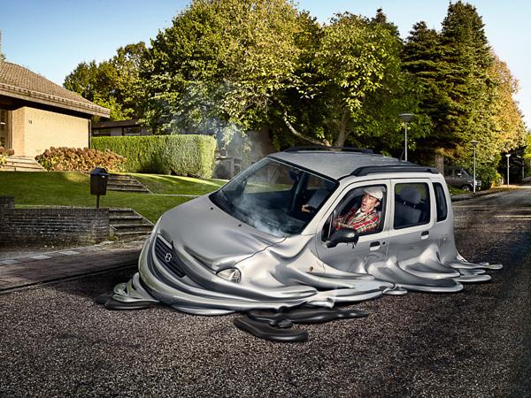 melting_car